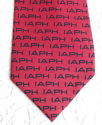 Vintage silk tie + hankie IAPH International Association of Ports and Harbours